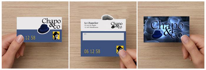 création graphique carte de visite chapoandco