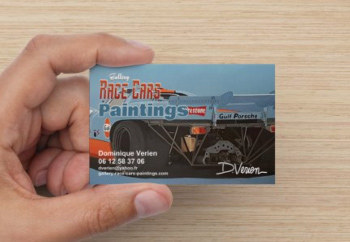 carte de visite Gallery Race Cars Paintings par WebCréaPrint
