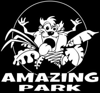 logo Amazing Park noir et blanc