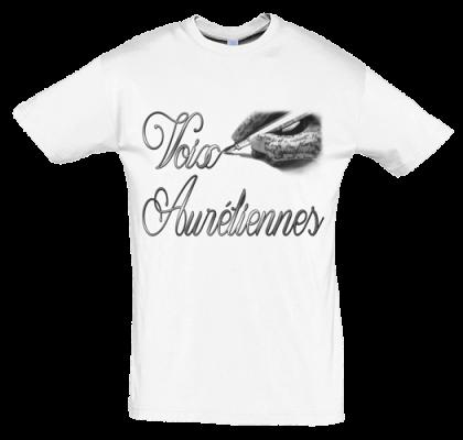 t-shirt personnalisé, flocage textile, logo pour voix Auréliennes